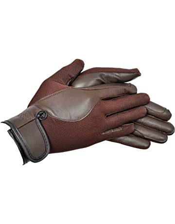 Riders Trend AirMesh/Leather - Guantes de hípica para mujer