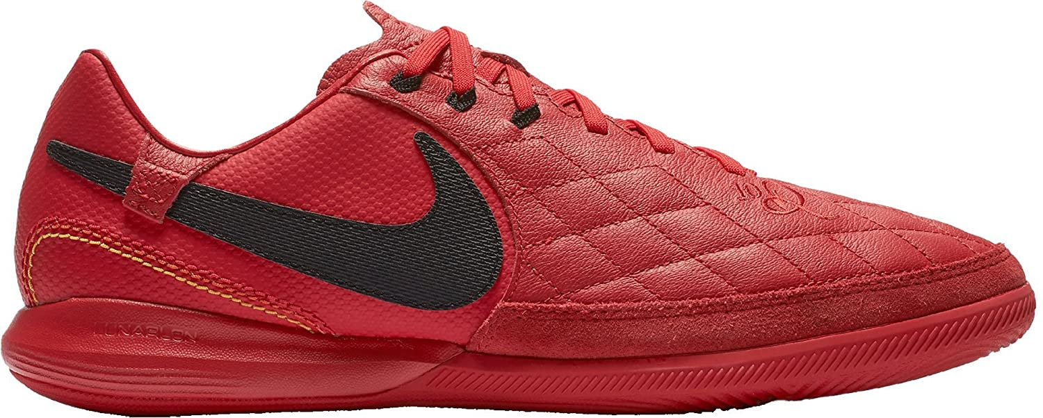 48a3a987d Amazon.com: Nike Lunar LegendX 7 Pro 10R Indoor Soccer Cleats (Red/Gold,  M75W9): Sports & Outdoors