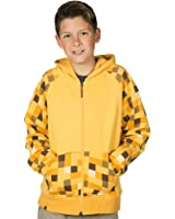 JINX Minecraft Big Boys' Ocelot Premium Zip-Up Hoodie