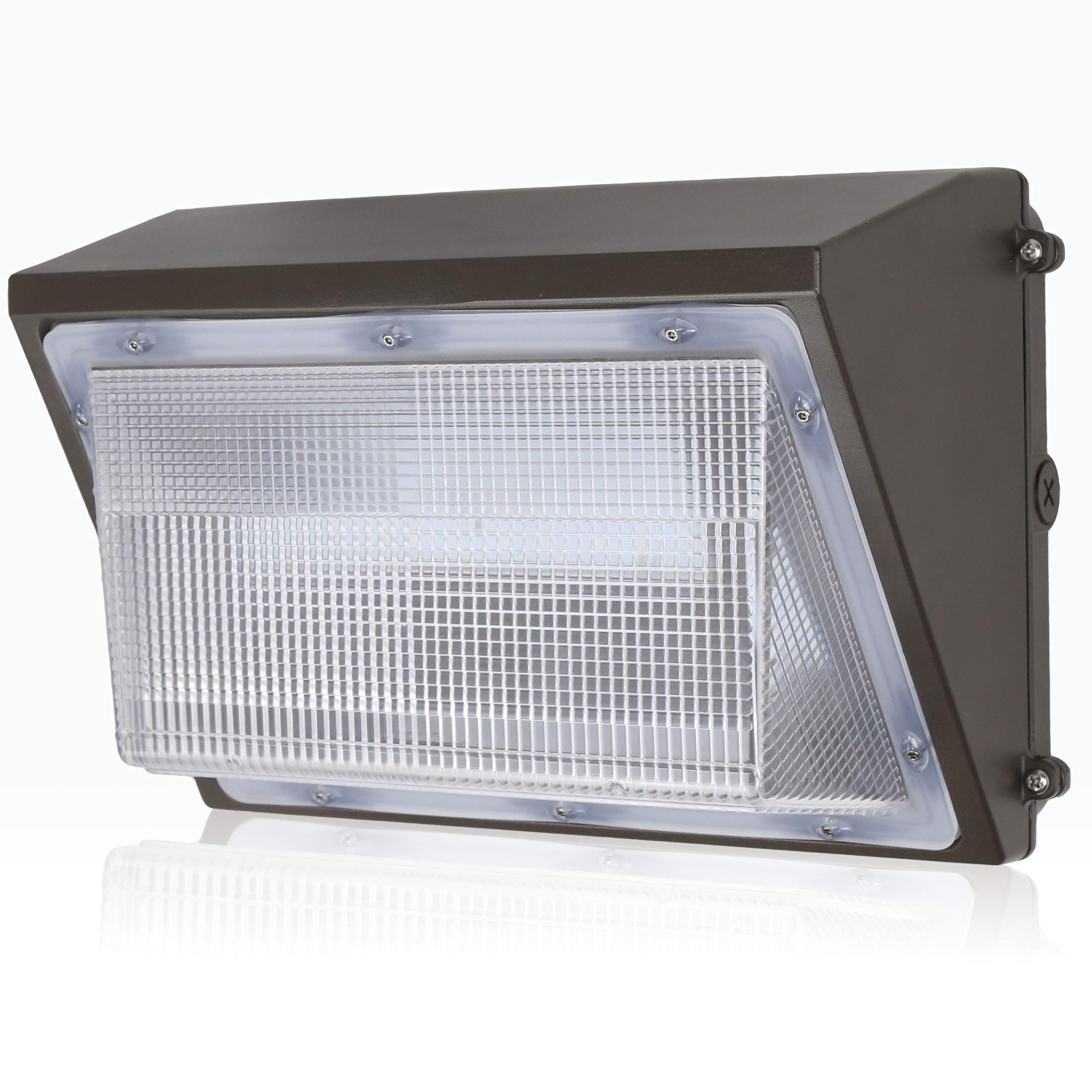 GKOLED 45W LED Wall Pack Light Fixture, 5300 Lumens, 5000K Daylight, 300W HPS/HID Replacement, Waterproof Commercial Grade Wall Pack, UL listed DLC 4.2 qualified, over 50,000 hours Lifespan
