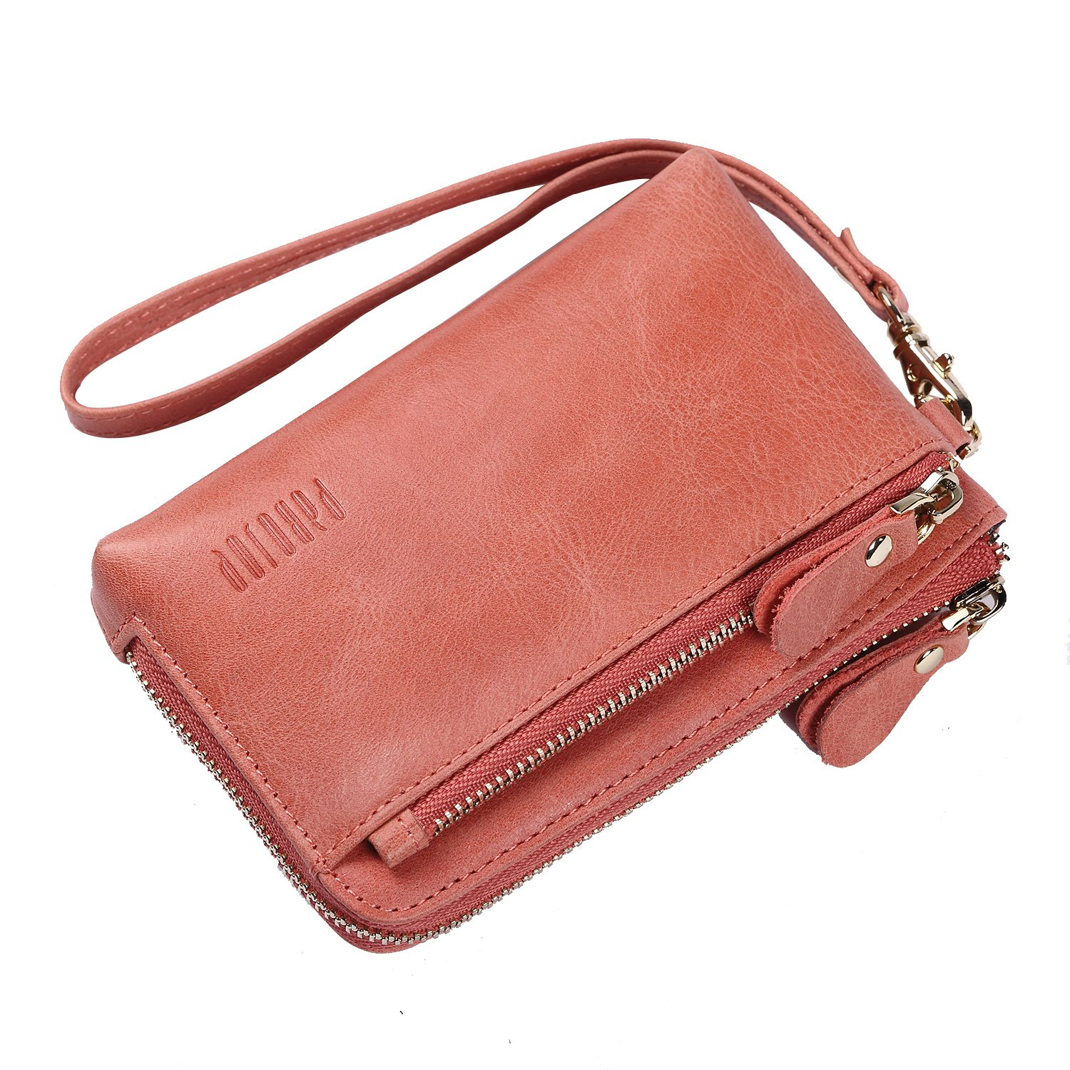 PABOJOE Small Wallets for Women Soft Leather Wallet with Coin Pocket Pink Ladies Wristlet Handbags