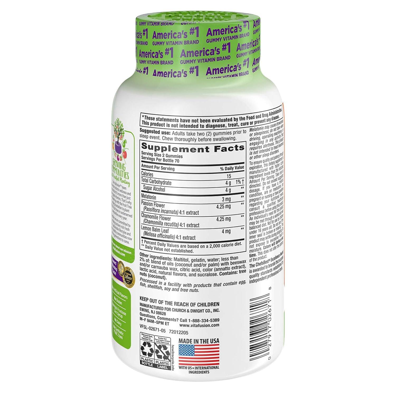 Amazon.com: Vitafusion Melatonina Gummy Vitamins, 140 ct ...