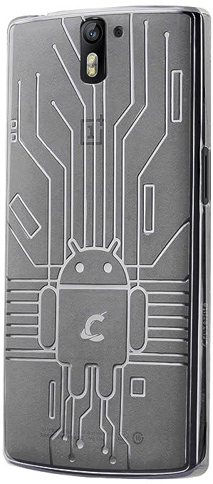 299 opinioni per Cruzerlite Bugdroid Circuit TPU Cover per OnePlus One, Colore: trasparente
