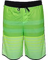 Hurley Mens Warp 4 Mesh Shorts Green/Black