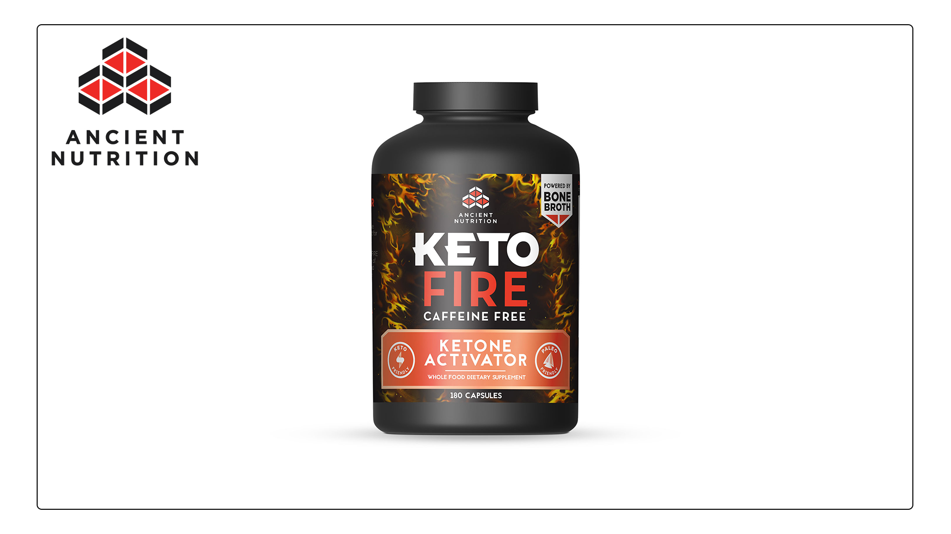 Ancient Nutrition KetoFIRE Caffeine Free Capsules, 180 Count - Keto Supplement with BHB Salts as Exogenous Ketones and Electrolytes
