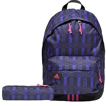 07578b282c Adidas Classic Unisex Backpack School Bag - Black Purple  Amazon.co ...