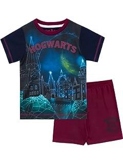 c483c9627 Harry Potter Pijamas de Manga Corta para Niñas Hogwarts  Amazon.es ...