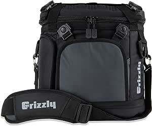 Grizzly Drifter 20 Fliptop Soft Cooler, Black/Gunmetal