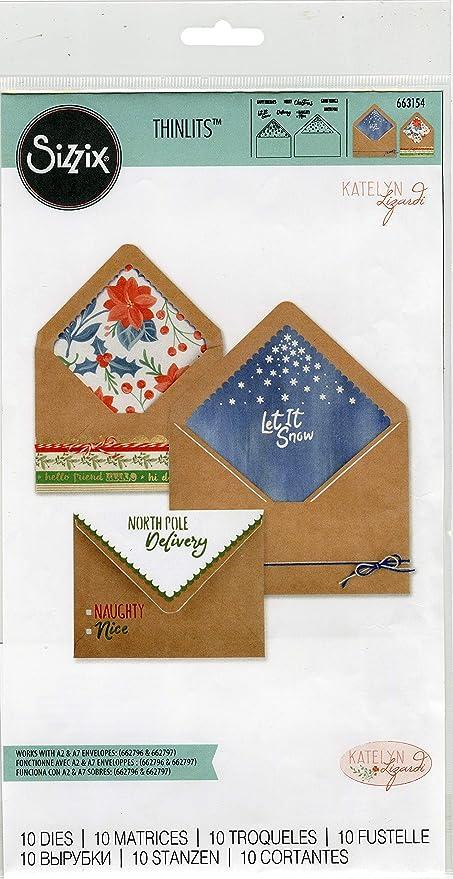 Sizzix Mini Envelope BIGZ Die 663621 NEW  Envelope Stamp Label