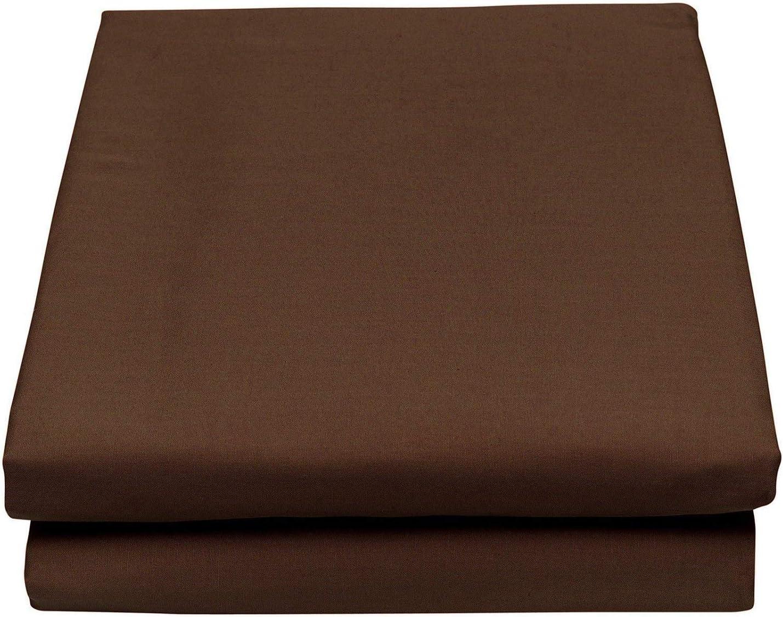 Thread Linen Plain Dyed Pollycotton Flat Sheet Double, Black