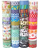 48 Rolls Washi Tape Set,Decorative Washi Masking Tape Set for DIY Crafts and Gift Wrapping (mix)