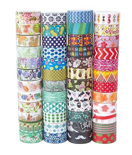 Amazoncom 48 Rolls Washi Tape Set Decorative Washi Masking Tape