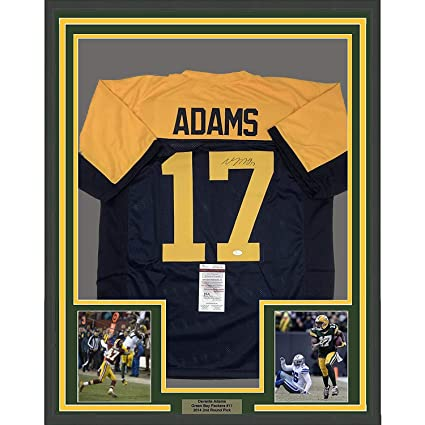 new arrival a5c80 caecb Framed Autographed/Signed Davante Adams 33x42 Green Bay ...