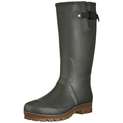 Joules Men's Field Welly Rain Boots with Neoprene Lining, Dark Everglade, US 13 | Shoes