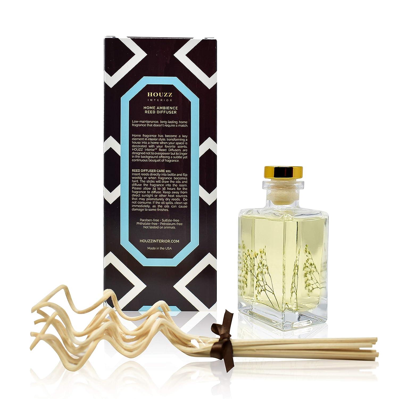 Lemon Zest /& Verbena Blossoms Blended with Vetiver /& Natural Lemongrass Great Housewarming Gift Idea! HOUZZ Interior Lemon Verbena Essential Oil Reed Diffuser