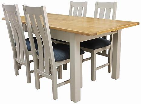 Amazon.com: Aspen pintado roble Sage/Gris Juego de mesa de ...