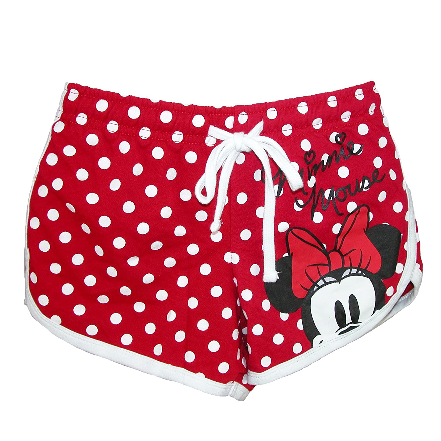 Disney Junior Youth Girls Minnie Mouse Peeking Short, Red Polka Dot