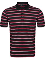 (クーファンディ)Coofandy ポロシャツ メンズ 半袖 ボーダー ゴルフ スポーツ 通気 吸汗速乾 快適 鹿の子 カジュアル ゆったり 胸ポケット ボタンダウン 大きいサイズ 4色 S~XXL