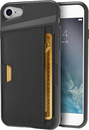 Silk - Funda Estilo Cartera para Apple iPhone, con Compartimento para Tarjetas de crédito, Compatible con Apple iPhone 8; Apple iPhone 7, Color Negro: ...