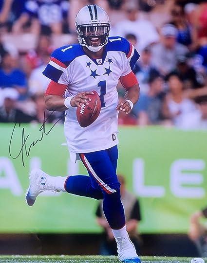 Amazon's At Store Photo Panthers Cam Pro 16x20 Sports Newton Signed Collectibles Carolina Bowl Jsa