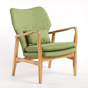 Christopher Knight Home 298381 Haldisa Wood Fabric Club Chair (Green)
