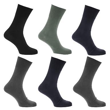 Calcetines para diabeticos sin elástico pero se mantiene arriba para hombre/caballero - Pack de