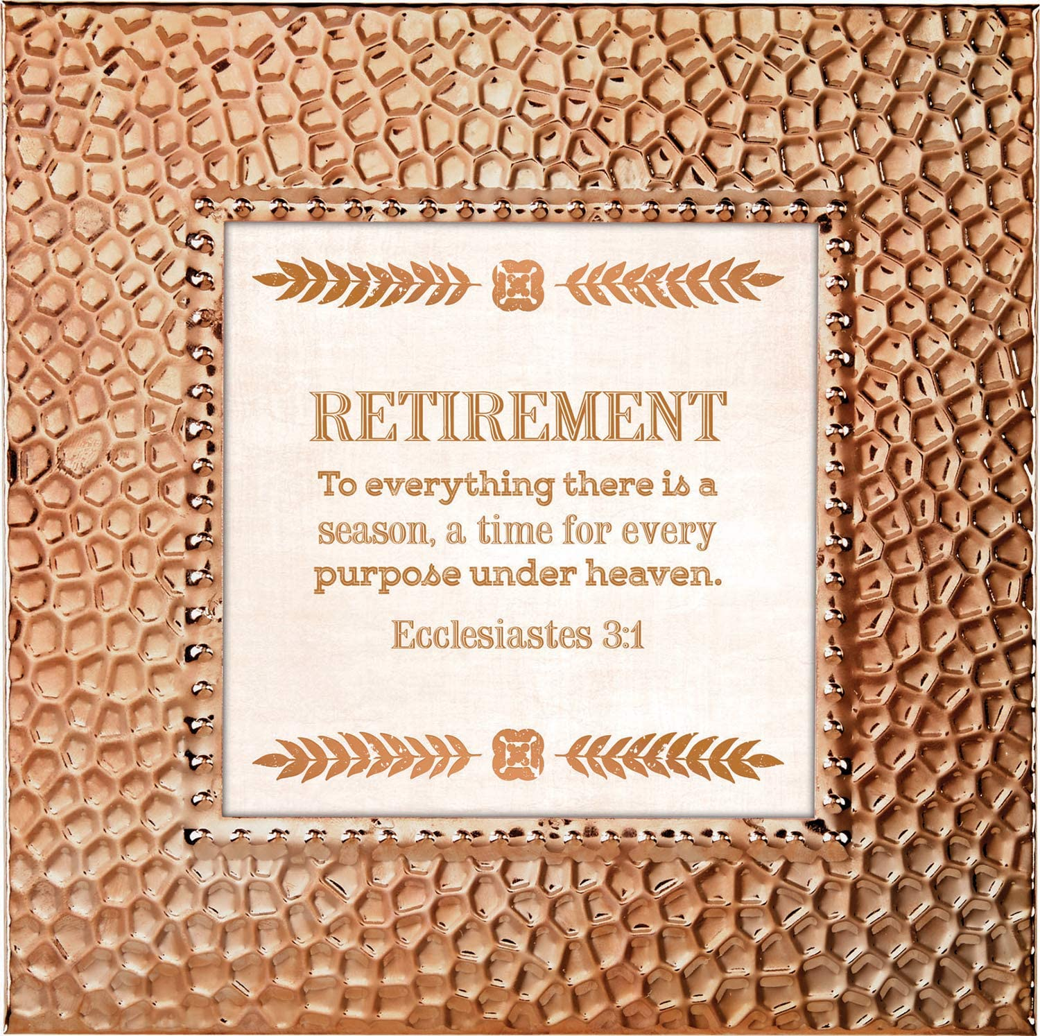 CB Gift Touch of Vintage Collection Hammered Copper Framed Tabletop Verse, 7 x 7-Inches, Retirement