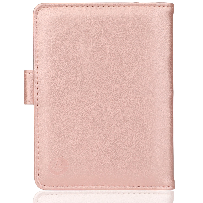 GDTK Leather Passport Holder Cover Case RFID Blocking Travel Wallet (Rose Gold) by GDTK (Image #6)