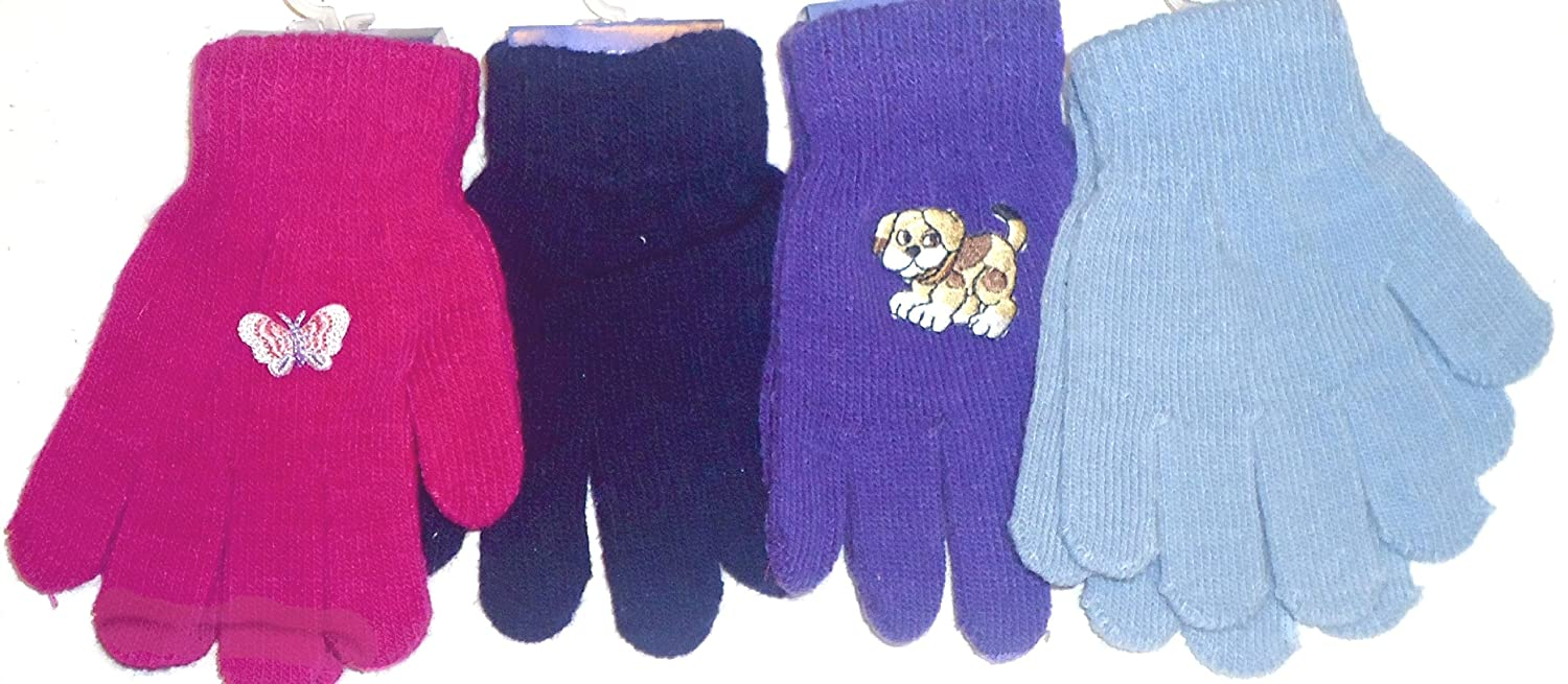 Set of Four Pairs Magic Microfiber Stretch Gloves for Infants for Ages 1-4 Years