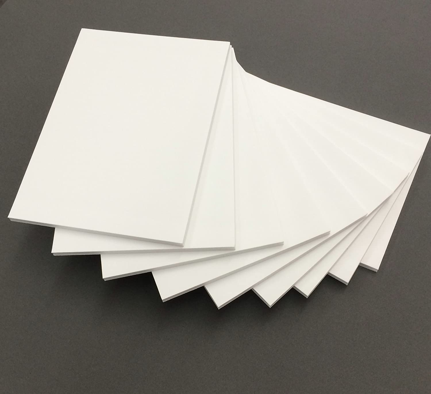 Pack of 10 8.5x11 1/8 White Foam Core Backings Bux1 Picture Matting