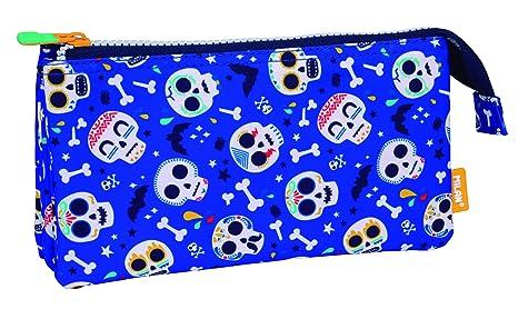 MILAN Portatodo 5 Compartimentos Bats&Bites Azul Estuches ...