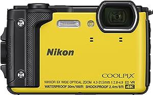 "Nikon W300 Waterproof Underwater Digital Camera with TFT LCD, 3"", Yellow (26525)"
