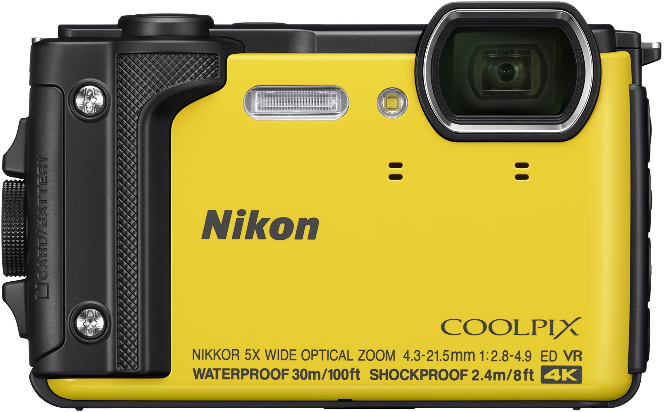 Nikon W300 Waterproof Underwater Digital Camera with TFT LCD, 3'', Yellow (26525) by Nikon