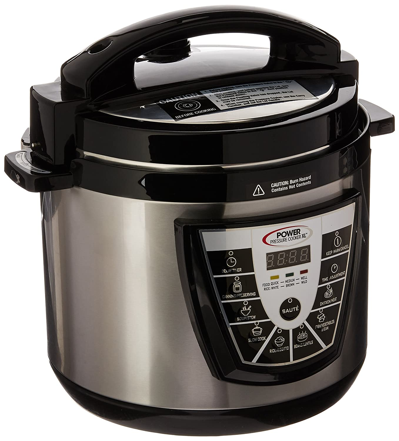 PPC Power Pressure Cooker, X-Large, Silver As Seen on TV