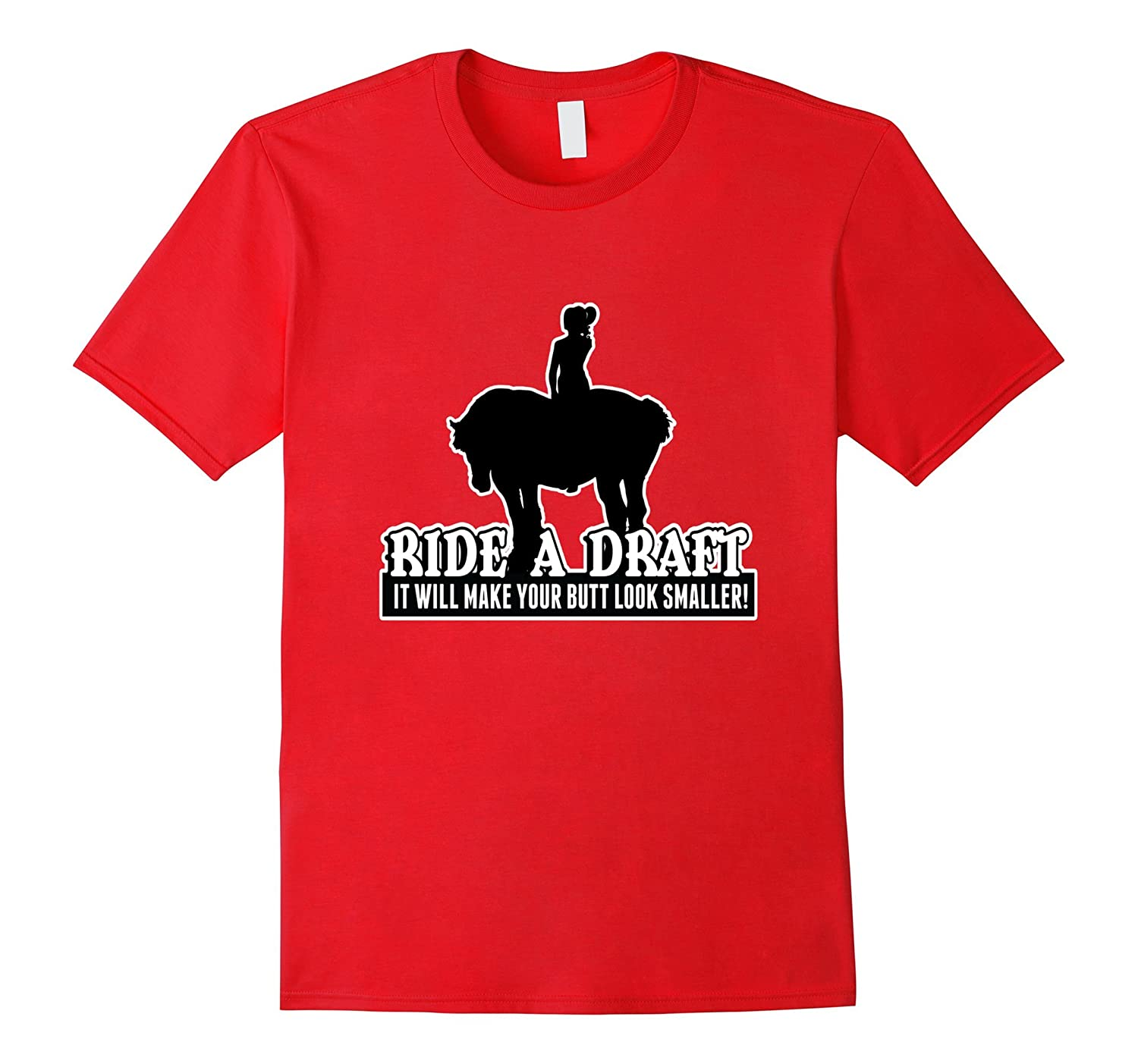 Funny Ride a Draft Horse T-Shirt for Women-Vaci