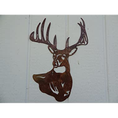 Deer Buck Head Metal Wall Art Country Rustic Home Decor