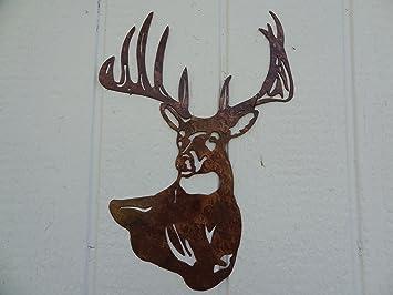 Deer Buck Head Metal Wall Art Country Rustic Home Decor & Amazon.com: Deer Buck Head Metal Wall Art Country Rustic Home Decor ...