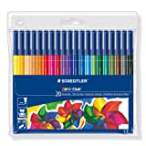 Staedtler 326WP20 Noris Club Fibre-Tip Pen with Wallet - Assorted Colours, Pack of 20