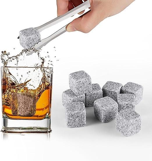 Pierres /à whisky r/éutilisables en granit 9 x Polished Diamond Whisky Stones gris