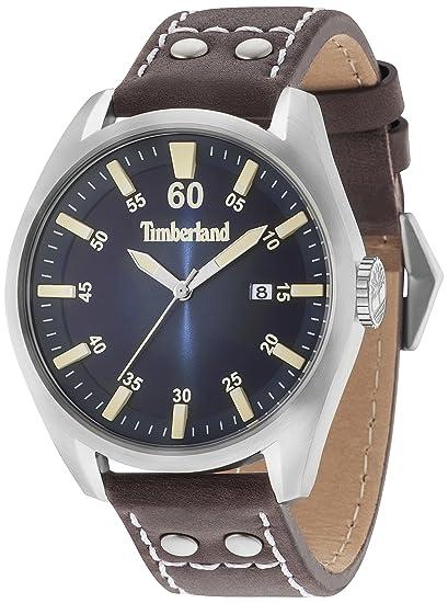 Timberland Reloj Analógico para Hombre de Cuarzo con Correa en Cuero TBL15025JS.03