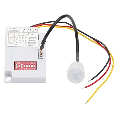 Detector de Presencia para Empotrar Mini 140º hasta 300W