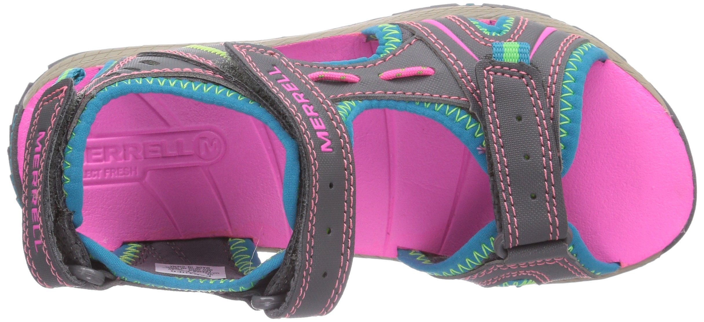 Merrell Panther Athletic Water Sandal , Blue/Pink/Green, 11 M US Little Kid by Merrell (Image #7)