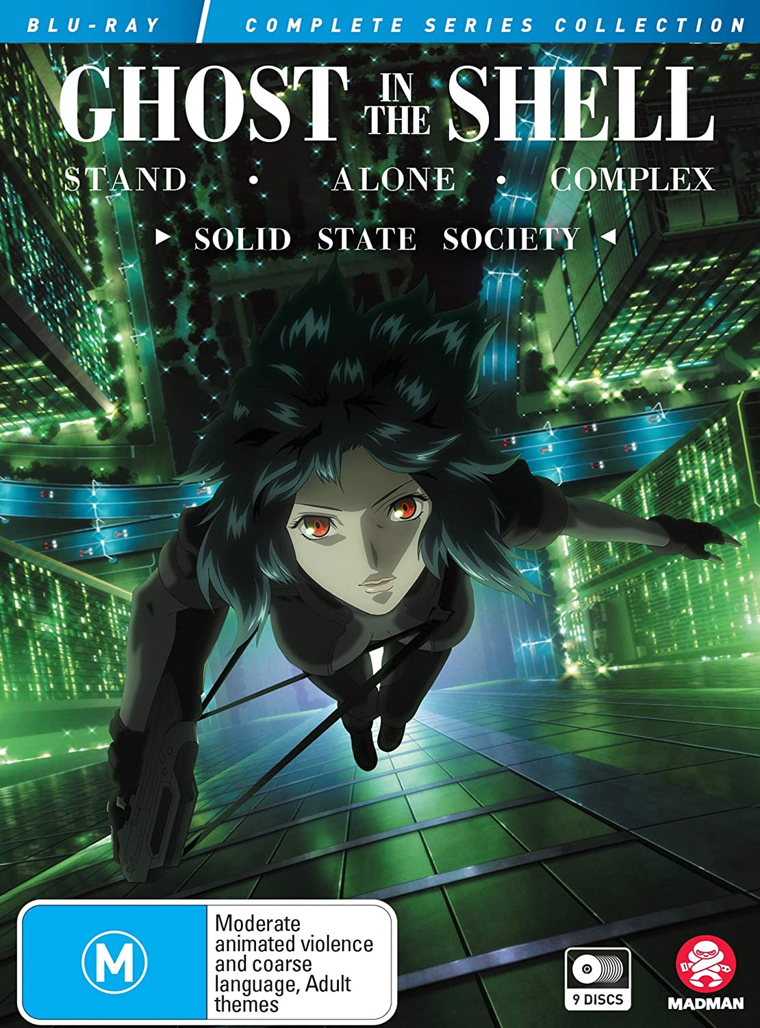Amazon Com Ghost In The Shell Stand Alone Complex Complete Series Solid State Society Collection Limited Edition Blu Ray Movies Tv