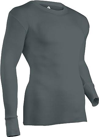 Indera Hombres Camiseta Interior de Altura de algodón de Punto Acanalado Top con Trans seco, Hombre, Gris: Amazon.es: Ropa y accesorios