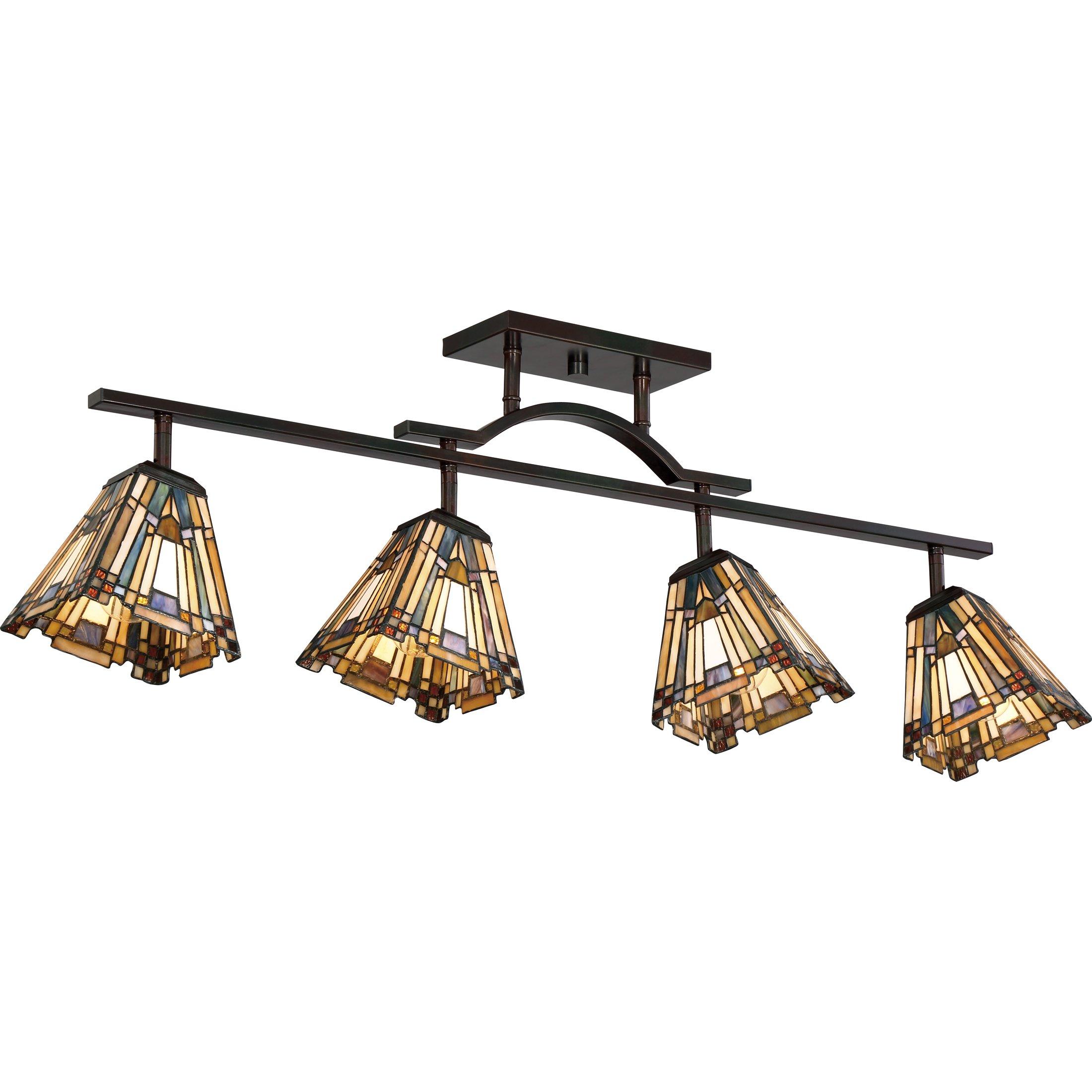 Quoizel TFIK1404VA Inglenook Adjustable Track Light Kit, 4-Light, 400 Watts, Valiant Bronze (14'' H x 42'' W)