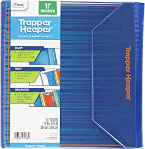 """Mead Trapper Keeper 3 Ring Binder, Heat Sealed, 1-1/2"""", Color Selected For You May Vary (24036)"""
