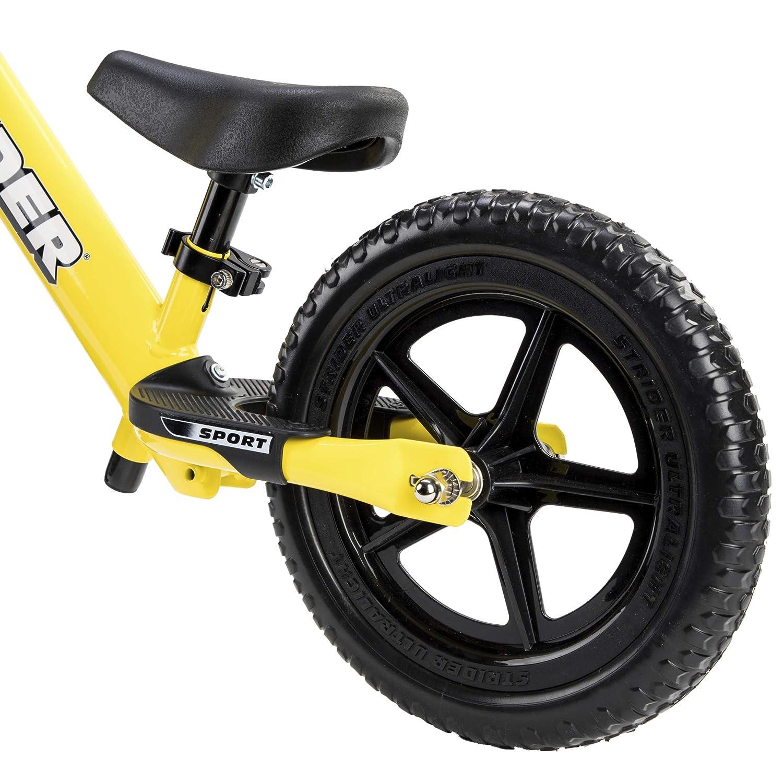 para ni/ños de 18 Meses 4 y 5 a/ños Strider 12 Sport Bicicleta sin Pedales Ultraligera 12 Pulgadas 2,3 sill/ín Ajustable