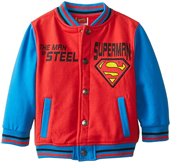 Amazon.com: CAN DC Comics Baby Little Boys' Superman Fleece Jacket ...