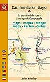 Mapa Guía del Camino de Santiago (Saint Jean-Santiago). Camino Guides. (Maps)