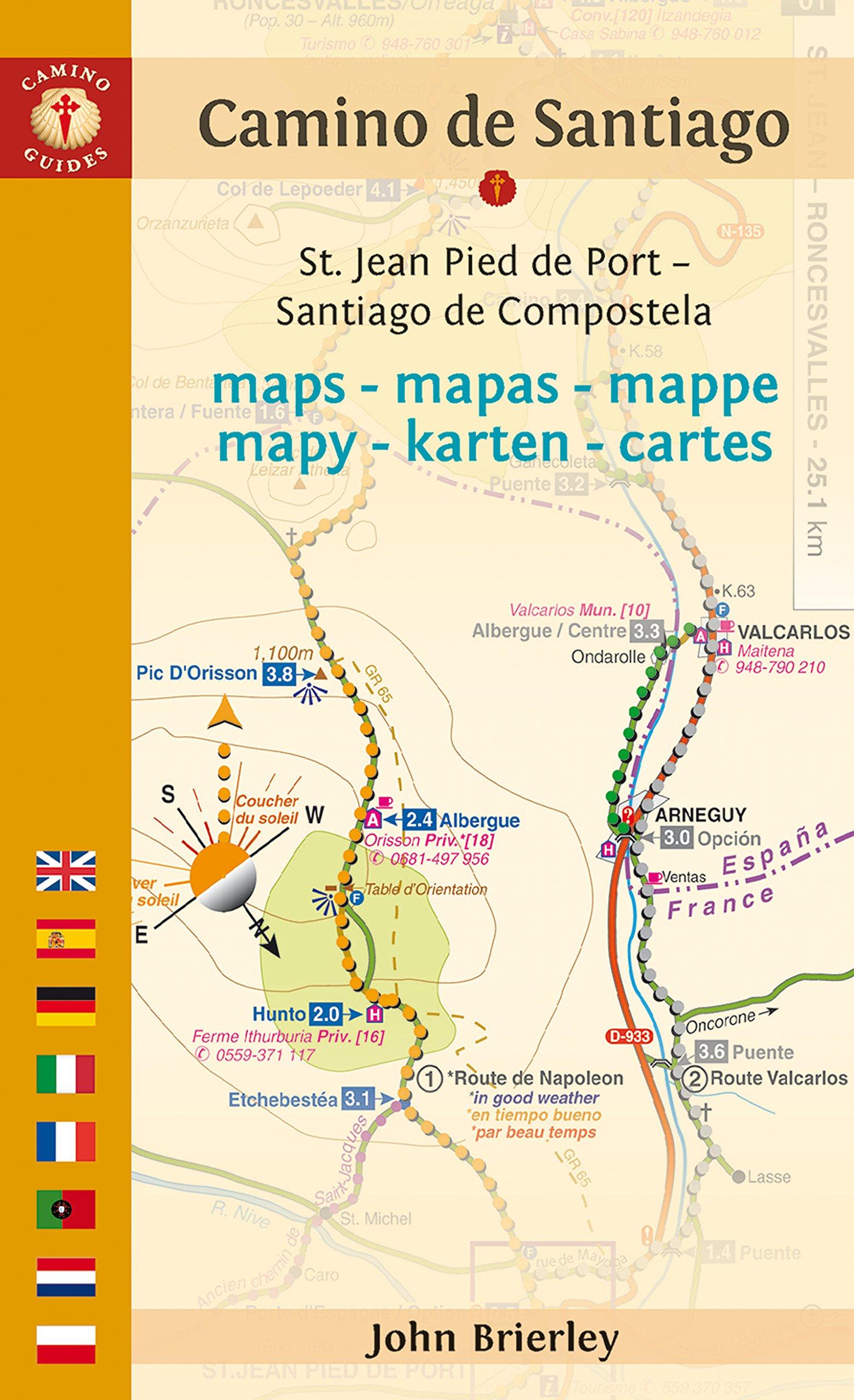 Camino Walk Spain Map.Camino De Santiago Maps St Jean Pied De Port Santiago De